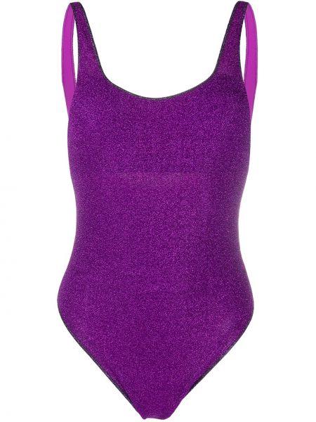Пляжный фиолетовый купальник с шортами с вырезом эластичный Oseree