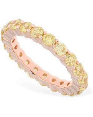 Żółty złoty pierścionek z cyrkoniami Talita