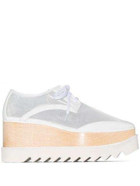 Туфли на танкетке на платформе на шнуровке Stella Mccartney