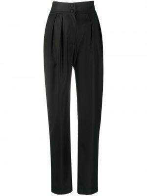 Шерстяные черные плиссированные брюки с высокой посадкой Matériel