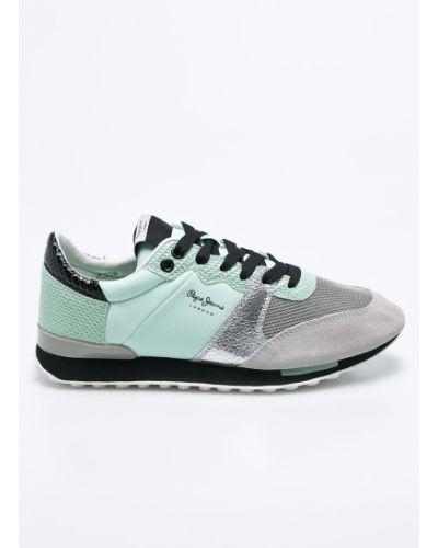 Зеленые кроссовки Pepe Jeans