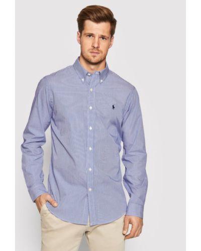 Koszula slim - niebieska Polo Ralph Lauren