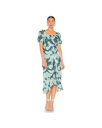 Текстильное зеленое платье на молнии на резинке Parker