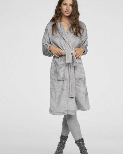 Серый халат домашний Oysho