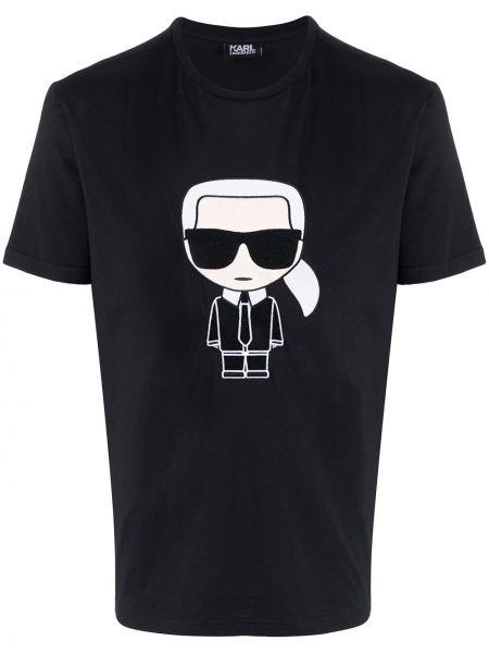 Футболка с вышивкой черная Karl Lagerfeld