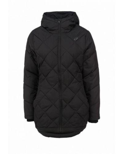 Утепленная куртка черная осенняя Asics