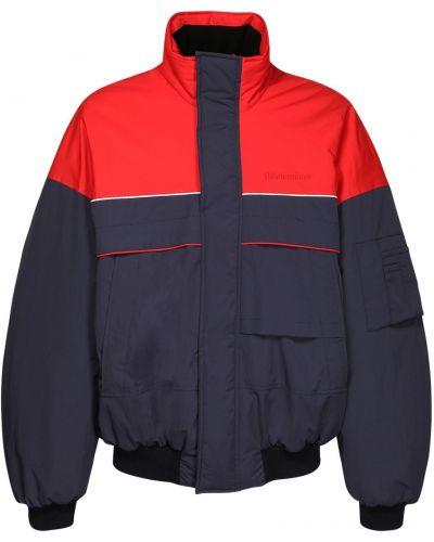 Синяя куртка горнолыжная на молнии с карманами Balenciaga