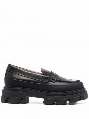 Loafers - czarne Ganni
