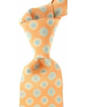 Żółty krawat z jedwabiu Kiton