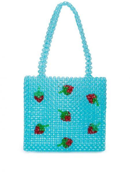Синяя сумка-тоут Susan Alexandra