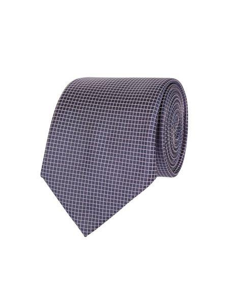 Fioletowy krawat z jedwabiu Boss