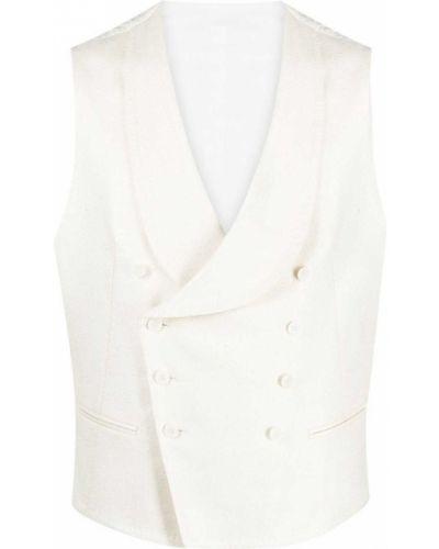 Biała kamizelka bez rękawów bawełniana Tagliatore