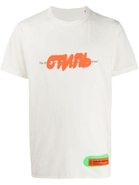 Koszula krótkie z krótkim rękawem prosto z łatami Heron Preston