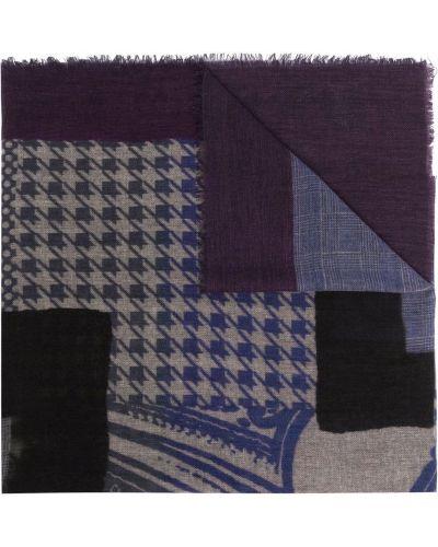 Fioletowy szalik wełniany Etro