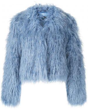 Синяя короткая куртка Unreal Fur