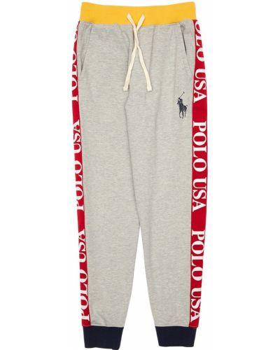 Spodnie na gumce z kieszeniami z logo Ralph Lauren