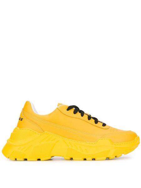 Żółte sneakersy skorzane sznurowane Joshua Sanders