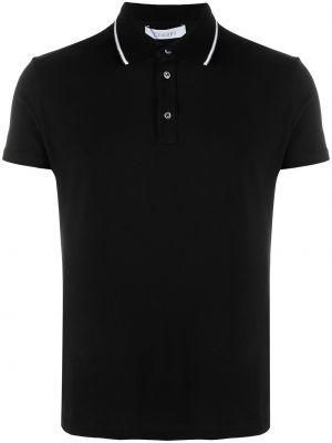 Czarna koszula krótki rękaw bawełniana Cruciani