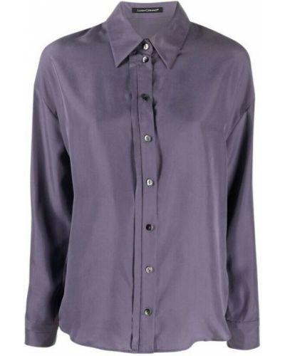 Fioletowa koszula z długimi rękawami Luisa Cerano