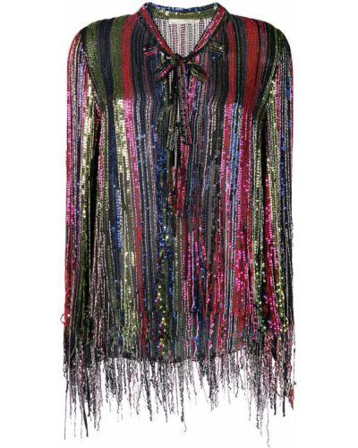 Блузка с длинным рукавом с пайетками с бантом Amen.