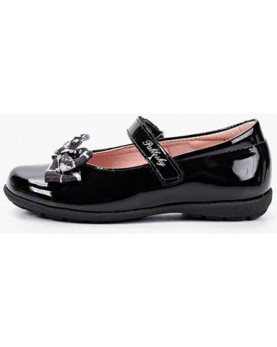 Лаковые кожаные черные туфли Pablosky