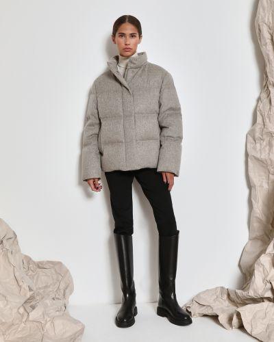 Утепленная серая пуховая короткая куртка 12storeez