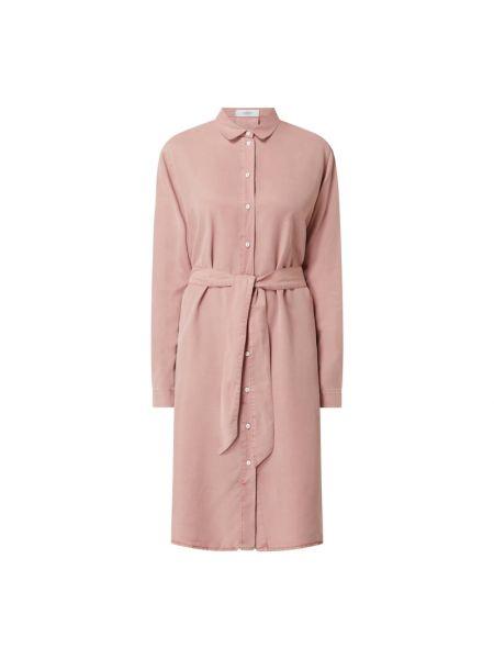 Sukienka rozkloszowana z długimi rękawami - różowa Blonde No. 8