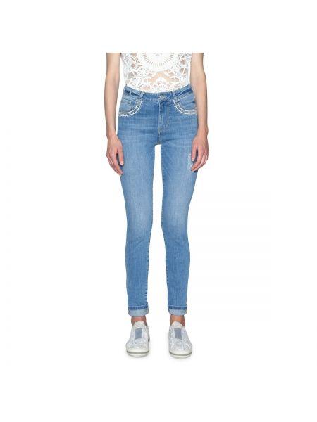 Голубые джинсы-скинни Desigual