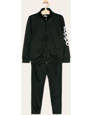 Czarny dres dzianinowy z printem Adidas