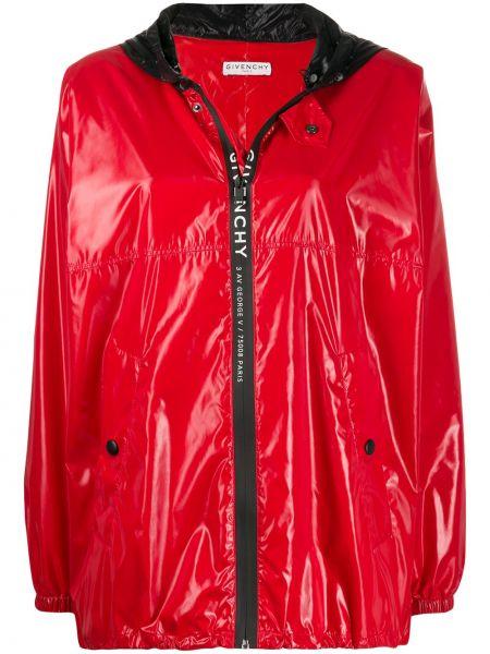 Czarna kurtka z kapturem z długimi rękawami Givenchy