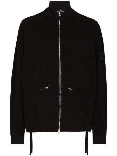 Спортивная куртка - черная Stone Island Shadow Project