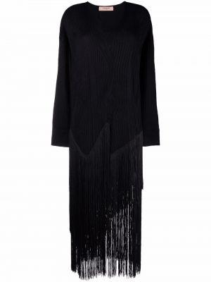 Черное платье длинное Twinset