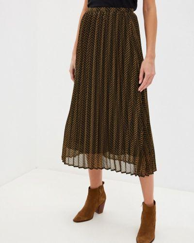 Плиссированная юбка хаки Sisley