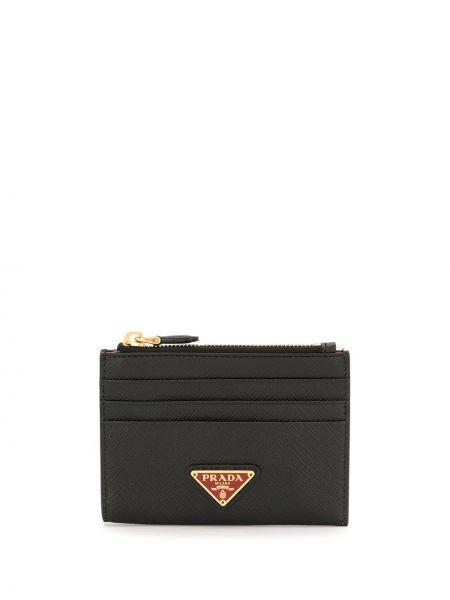 Кожаный черный кошелек на молнии с подкладкой Prada Pre-owned