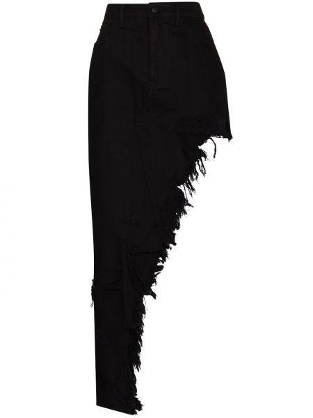 С завышенной талией черная джинсовая юбка с карманами Alexander Wang