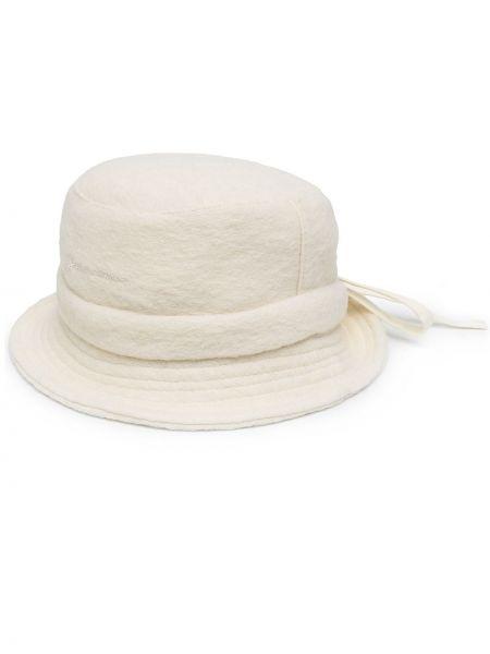 Wełniany bawełna biały krawat bezpłatne cięcie Jacquemus