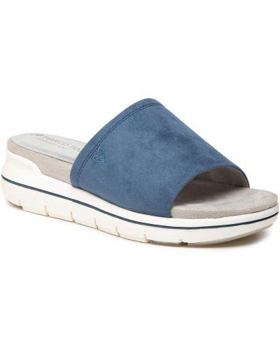 Sandały casual - niebieskie Marco Tozzi