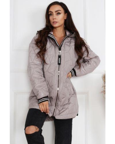 Różowa kurtka pikowana materiałowa Merce
