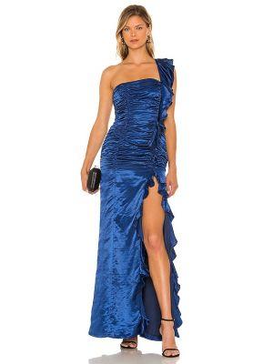Niebieska sukienka elegancka Majorelle