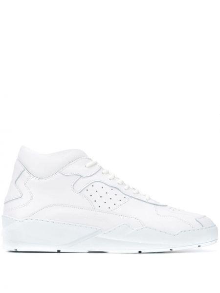 Кожаные высокие кроссовки - белые Filling Pieces