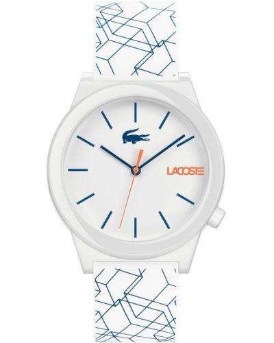 Biały zegarek Lacoste