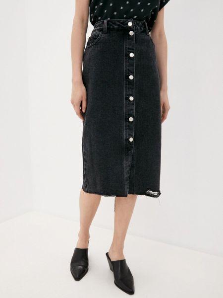 Черная джинсовая юбка Sela