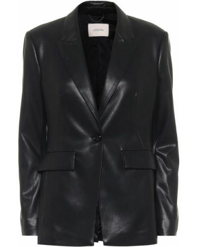 Кожаный черный пиджак Dorothee Schumacher