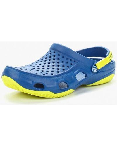 Синее сабо Crocs