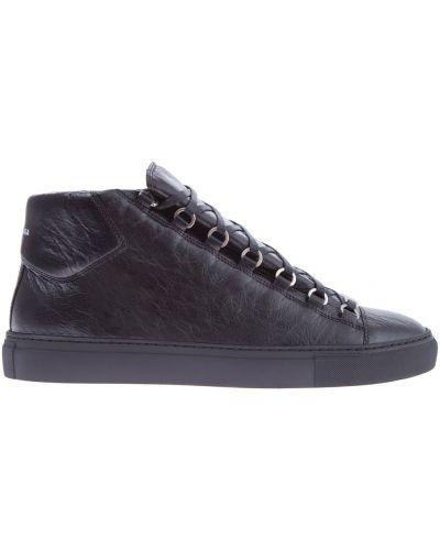 Высокие кроссовки на шнуровке с узором Balenciaga