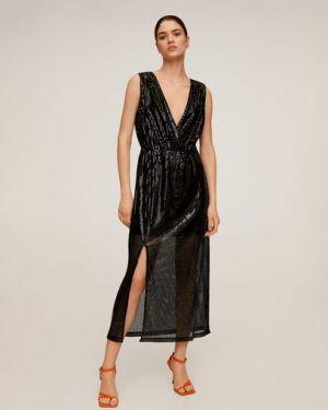 Платье миди с открытой спиной с пайетками Mango