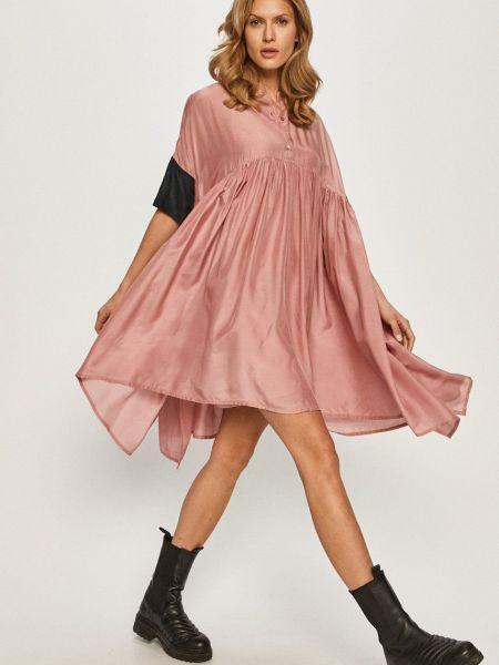 Свободное розовое платье свободного кроя Max&co