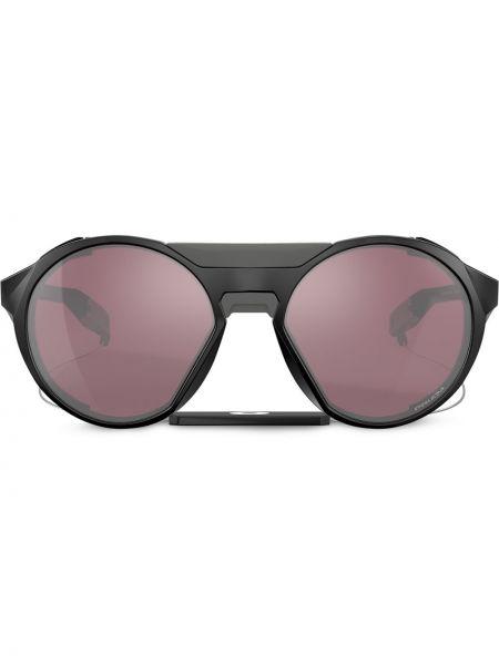Czarne okulary oversize srebrne Oakley