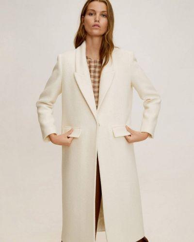 Пальто белое осеннее Mango