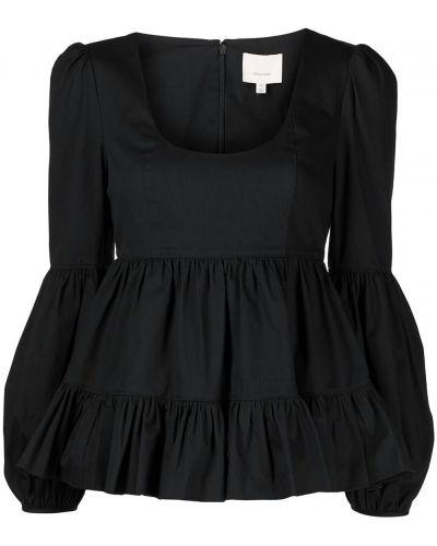 Блузка с баской - черная Cinq À Sept